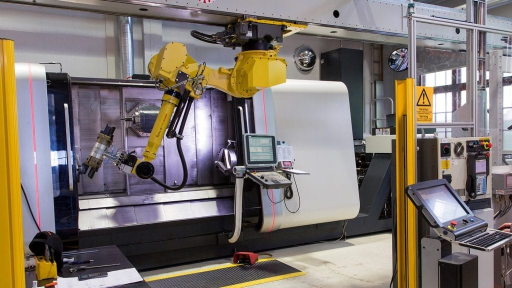 Increase manufacturing productivity and run unmanned shifts with Fastems robotic production cell
