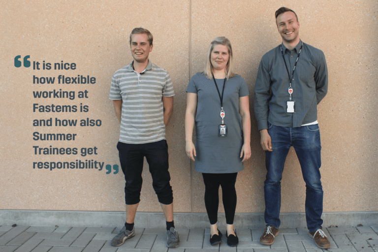 Summer Trainees at Fastems get to enjoy the perks of flexible working, while being given real responsibilities within the company.