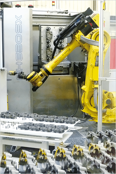 Increase manufacturing productivity with factory automation - de-burring cell