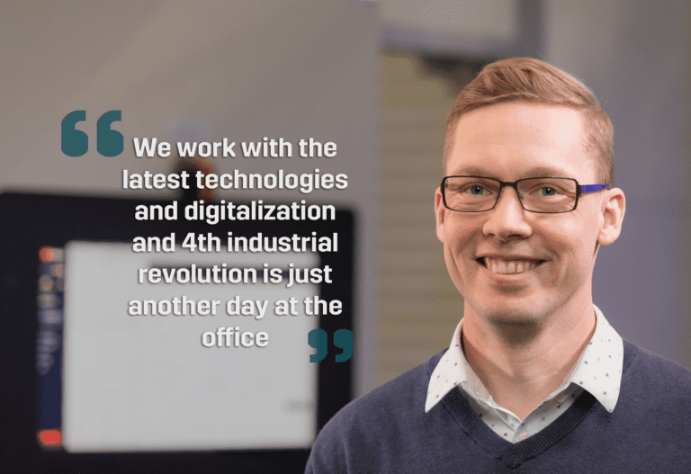 Fastems employees work with the latest technologies and digitalization making industry 4.0 just another day at the office