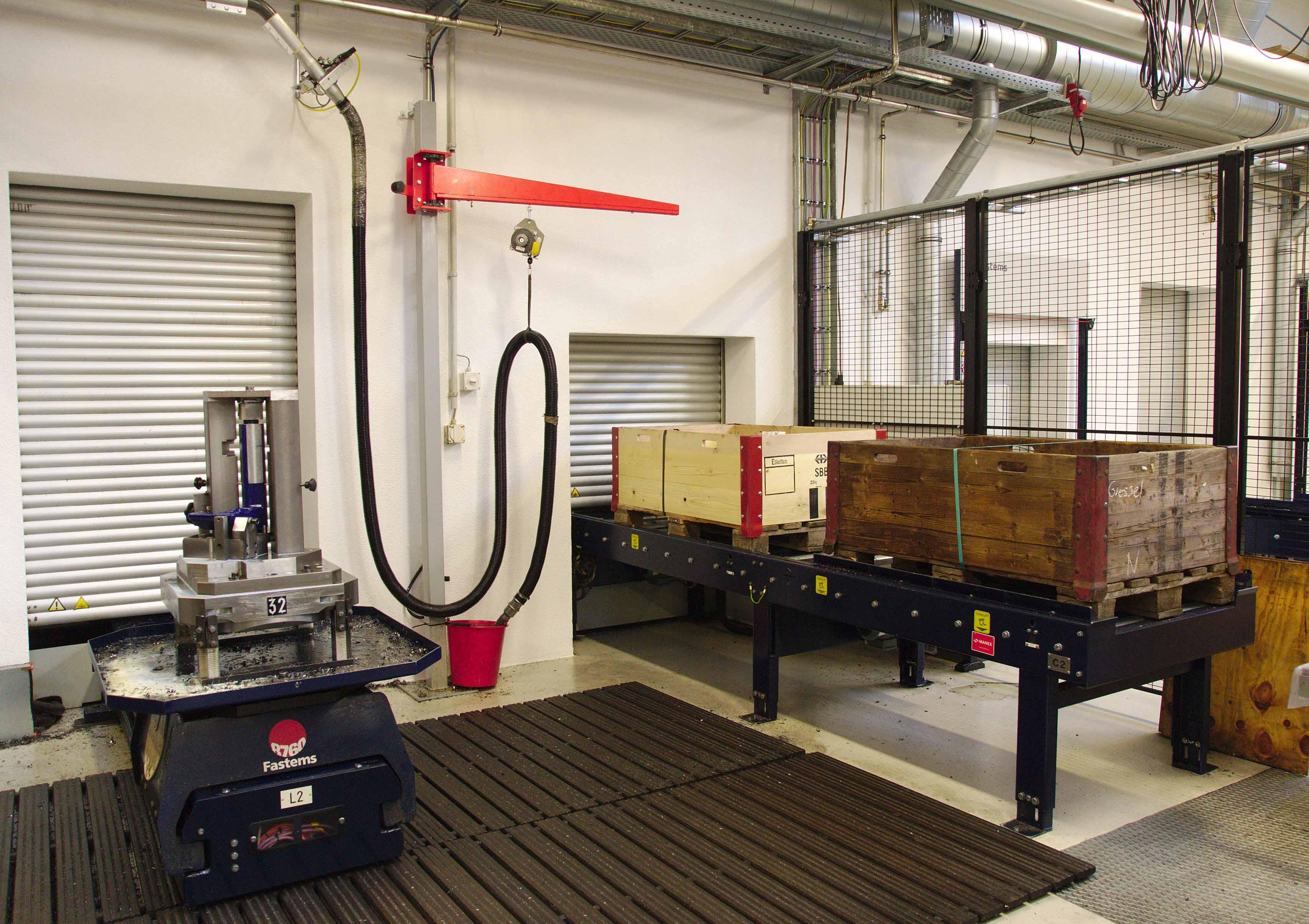 Pallet and material loading stations at Gressler AG Switzerland