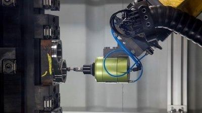 Robotic deburring of a workpiece
