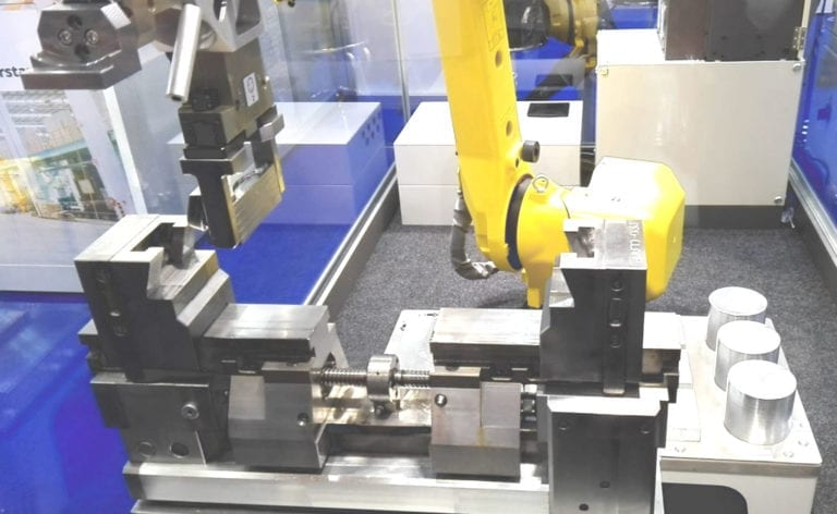 Manufacturing smaller batches economically requires material handling to be automated to reduce human intervention