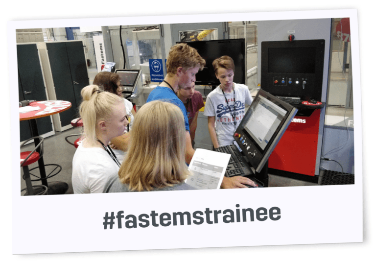 Fastems Technology Trainees learning about the industry's most advanced manufacturing management software