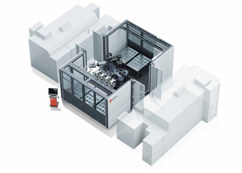 Fastems RoboCell ONE automates 2 machine tools