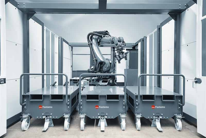 Fastems RoboCell ONE with workpiece trolleys