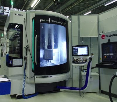 The equipment connected to the RoboFMS includes two turning/milling centers.