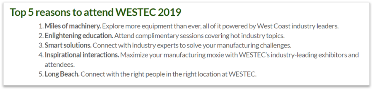 Why to attend WESTEC 2019
